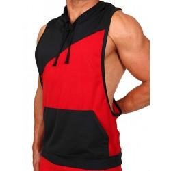 Pistol Pete Flex Hoody T-Shirt Red/Black
