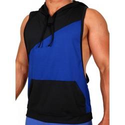 Pistol Pete Flex Hoody T-Shirt Royal/Black