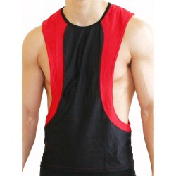 GB2 Arnold Training Muscle Tank Top Black/Red (T4400)