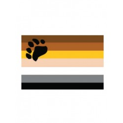 Bear Flag Aufkleber / Sticker 5.0 x 7,6 cm (T4729)