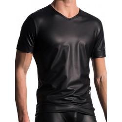 Manstore V-Neck Tee T-Shirt Regular M510 Black