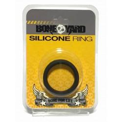 Bone Yard Silicone Ring Black (T4935)