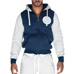 Supawear Sports Club Varsity Hoodie T-Shirt Navy (T3753)