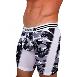 Pistol Pete Commando Compression Short Underwear White (T5022)