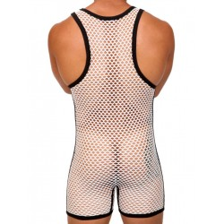 Pistol Pete ACE Singlet White/Black