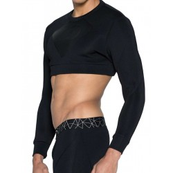 2Eros BLK Aktiv Cropped Short Sweater Black