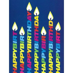 Birthday: Candles on cover Greeting Card