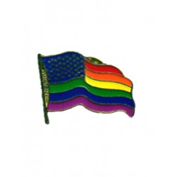 Pin Waving Flag w/Stars (T5225)