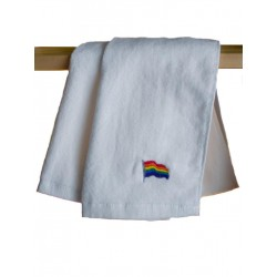 Rainbow Flag Gym Towel/Handtuch White 30x112 cm / 12x44 inch