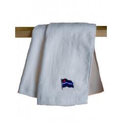 Leather Flag Gym Towel/Handtuch White 30x112 cm / 12x44 inch (T5249)