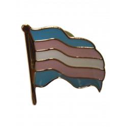 Pin Waving Trans Flag (T5226)