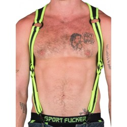 665 Neoprene Heckler Harness Neon Green/Black (T5167)