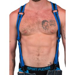 665 Neoprene Heckler Harness Blue/Black (T5170)