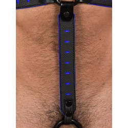 665 Leather NeoFlex Down Strap Neoprene Harness Extension Long Black/Blue