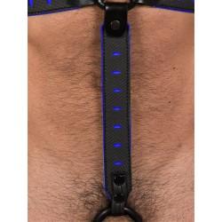 665 NeoFlex Down Strap Neoprene Harness Extension Long Black/Blue (T4979)