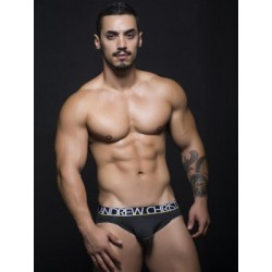 Andrew Christian Almost Naked Tagless Cotton Brief Underwear Charcoal (T5470)